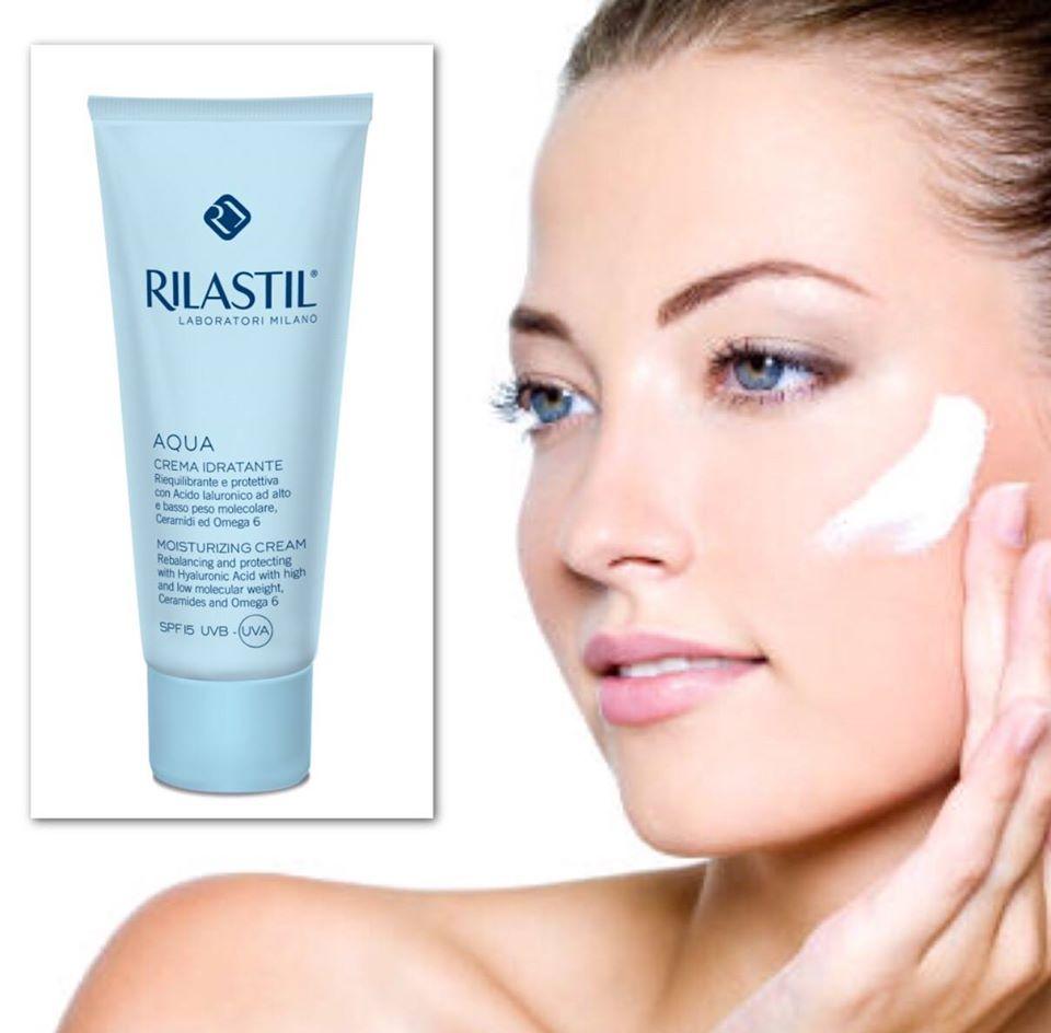 Kem dưỡng ẩm chống nắng Rilastil Aqua moisturizing cream SPF 15 UVB-UVA