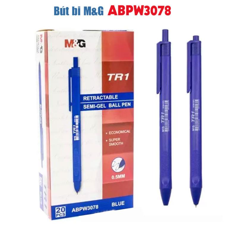 Hộp 20 cây ️ Bút Bi ABPW3078B (ngòi 0.5mm) thân tam giác (TR1)