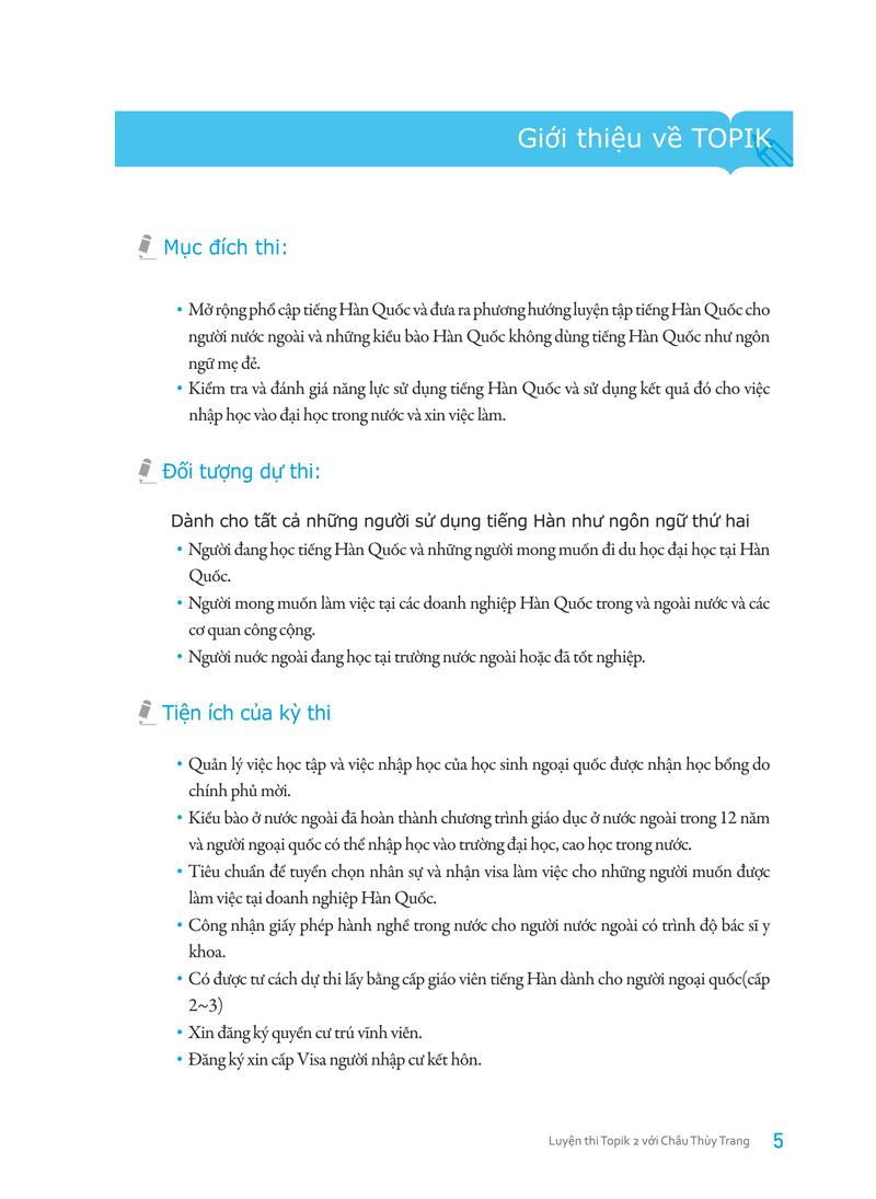 Cẩm Nang Luyện Thi Topik II (Kỹ Năng Đọc) (Học Kèm Với Video Qua Nhóm Facebook) (Tặng Decan Đo Chiều Cao Cho Trẻ 1-5 Tuổi)