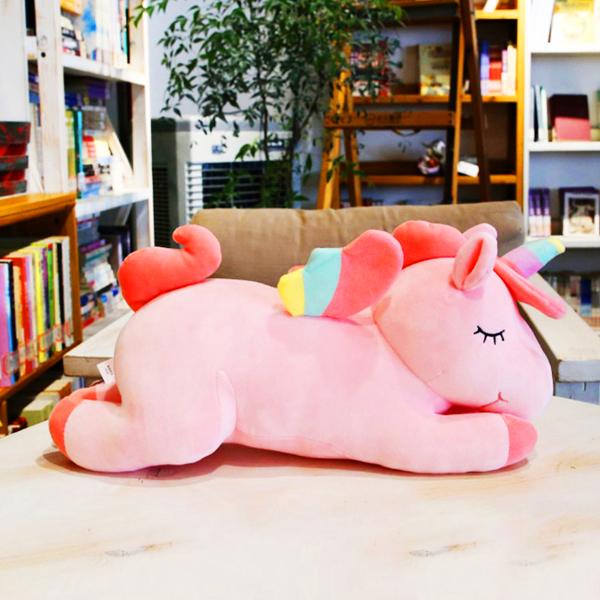 Gấu bông ngựa một sừng unicorn nằm (50 cm) gb45