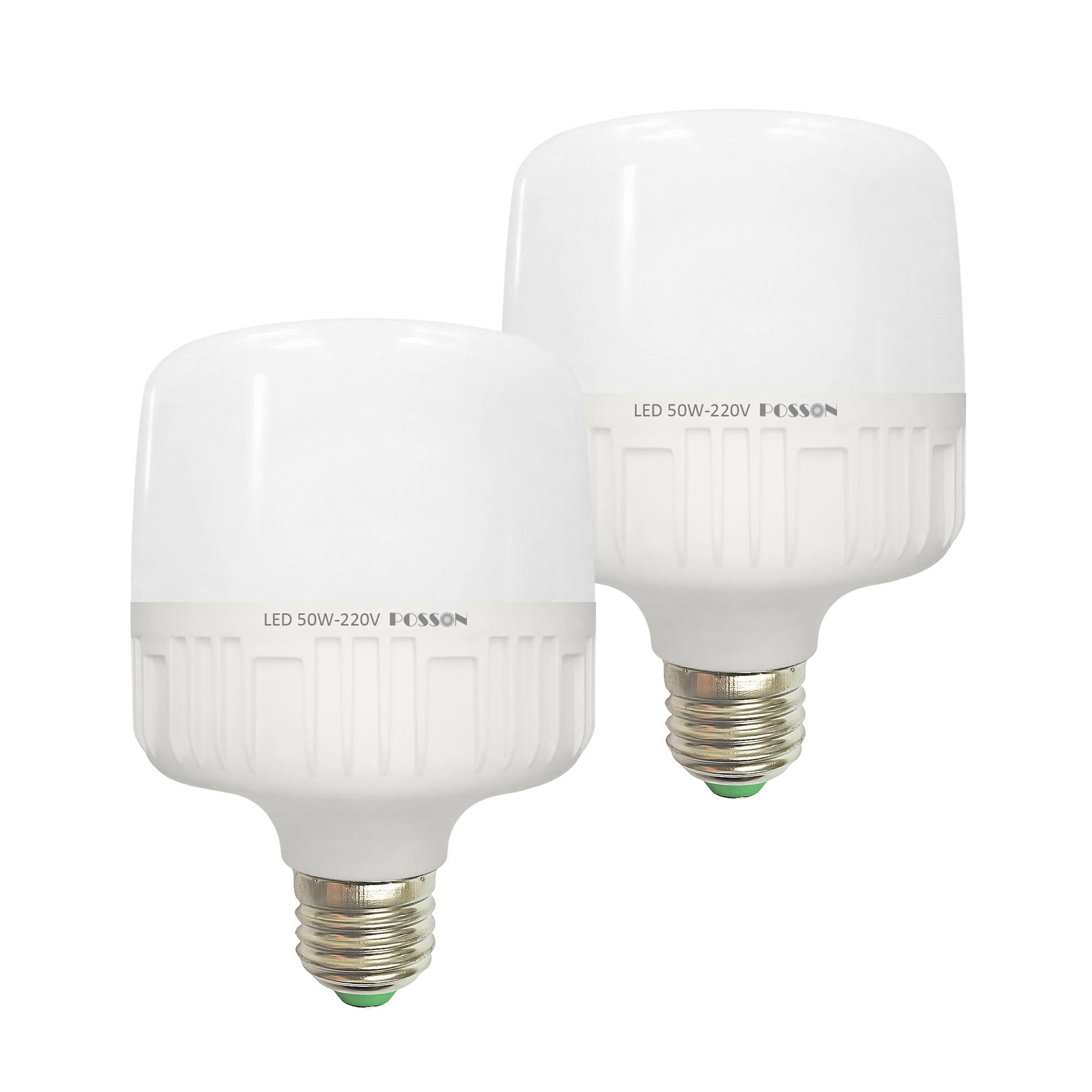 2 Bóng đèn Led trụ 50w siêu sáng tiết kiệm điện kín chống nước Posson LC-H50x