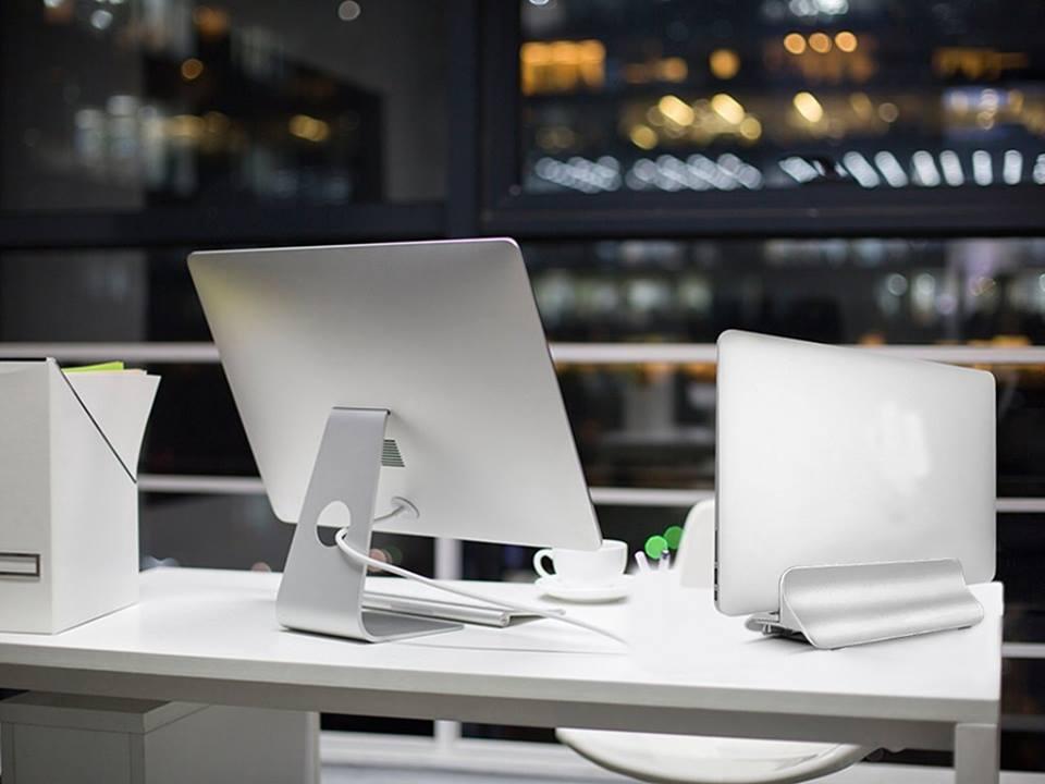 Đế nhôm Vertical cắm dọc dành cho Macbook