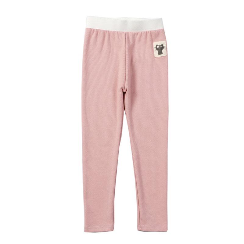 (Hàng đẹp video) Quần legging thun quần dài bé gái 2-10 tuổi xuân hè chât cotton cạp chun to