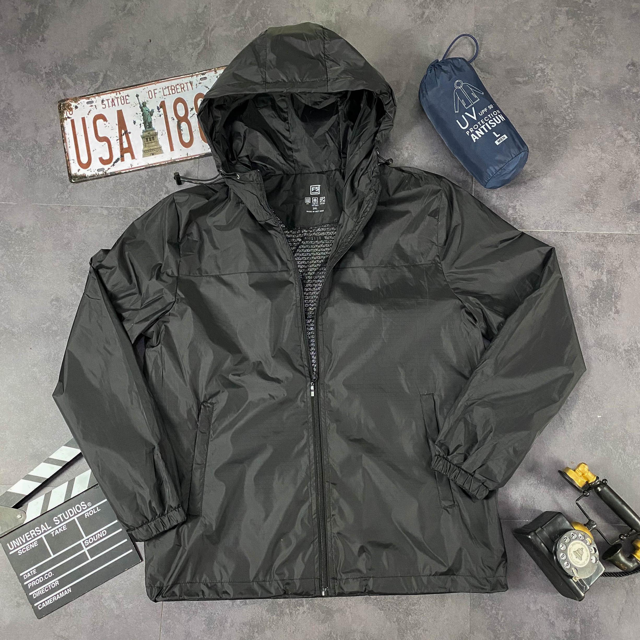 Áo Khoác gió nữ 2 lớp chống nắng - chống nước 2 Trong 1 kèm túi poket