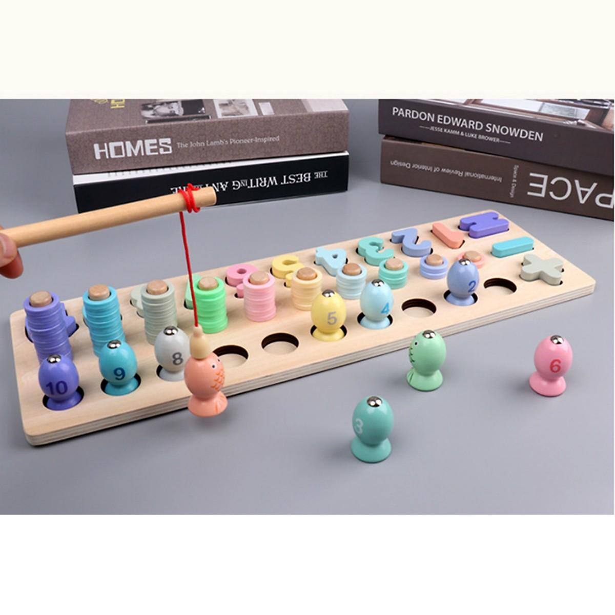 Đồ chơi trí tuệ - Đồ chơi giáo dục - Giáo cụ Montessori bằng gỗ MK003