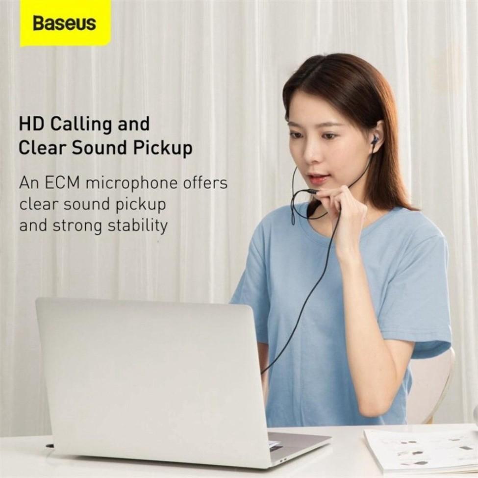Tai nghe AUX 3.5mm Baseus Encok H19 Wired Earphone-Hàng Chính Hãng Baseus