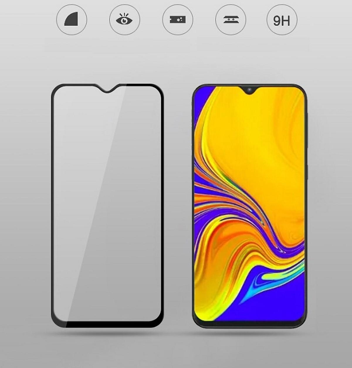 Kính Cường Lực 10D Cho Samsung Galaxy A20 A30 A30S A50 A50S Full Viền (1 miếng dán + bộ vệ sinh màn hình)
