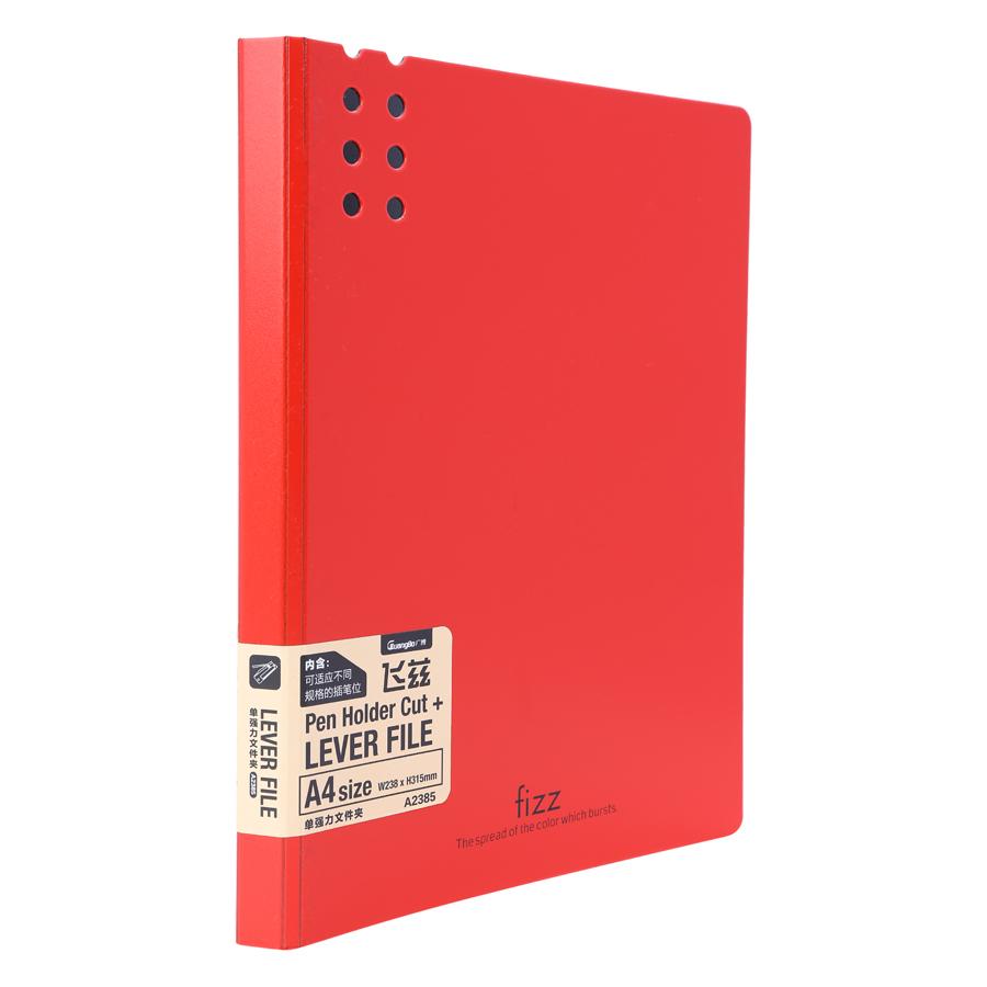 Bìa 1 Kẹp Guangbo Fizz A4 2385 - Đỏ