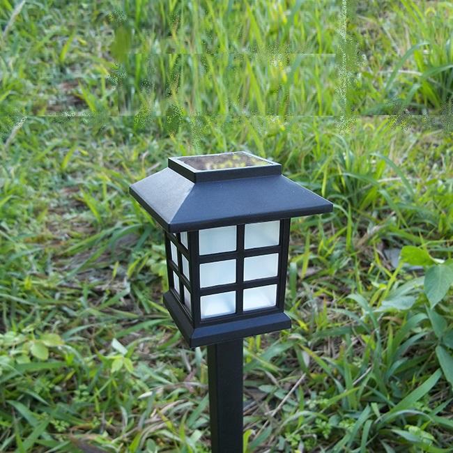 Combo 2 Đèn sân vườn đổi màu năng lượng mặt trời chữ nhật, cắm lối đi sân vườn, nhiều màu, IP65 chống mưa chống nắng HT01-DM023