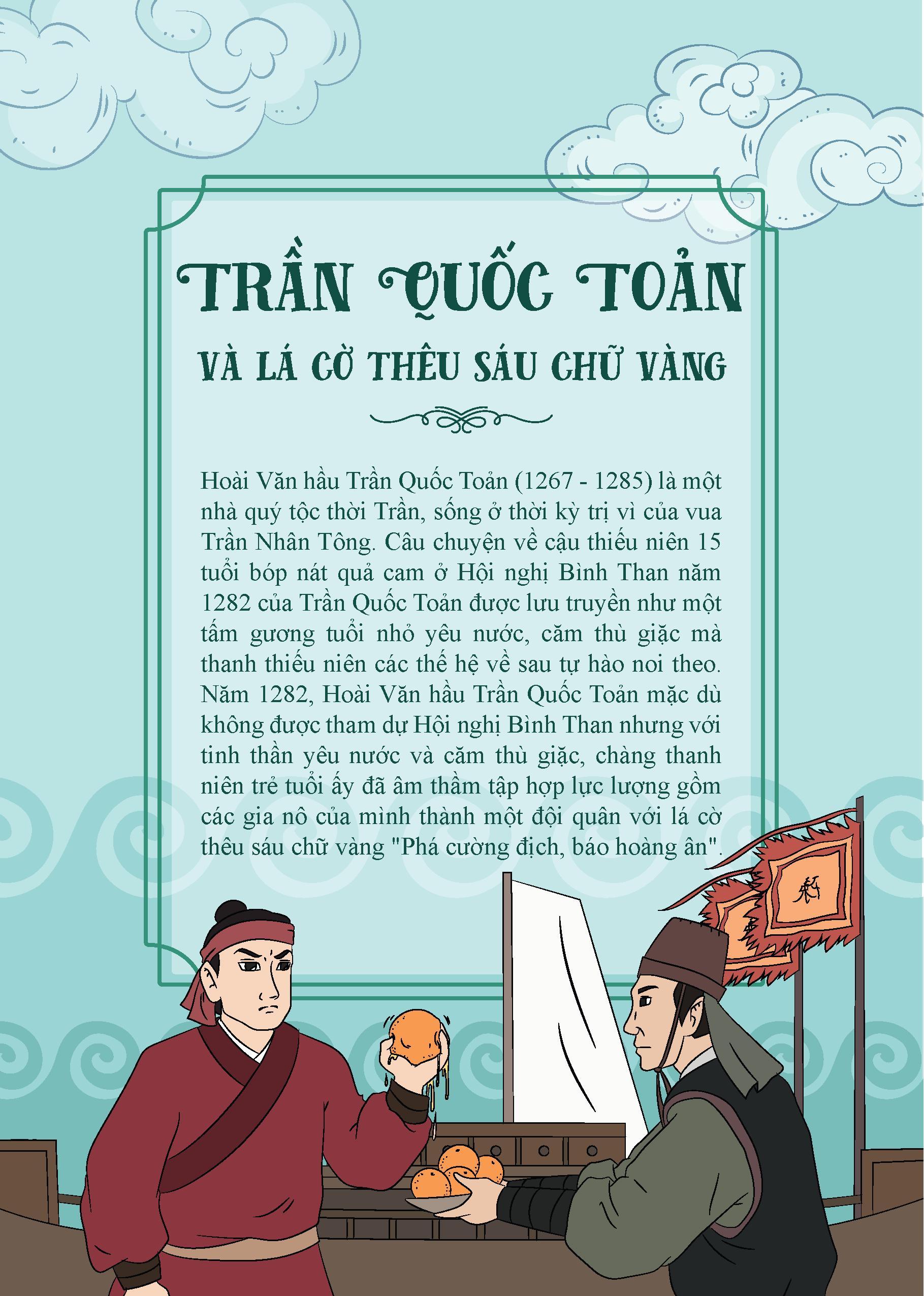 Bộ Truyện Tranh Lịch Sử Việt Nam - Khát Vọng Non Sông: Trần Quốc Toản Và Lá Cờ Thêu 6 Chữ Vàng