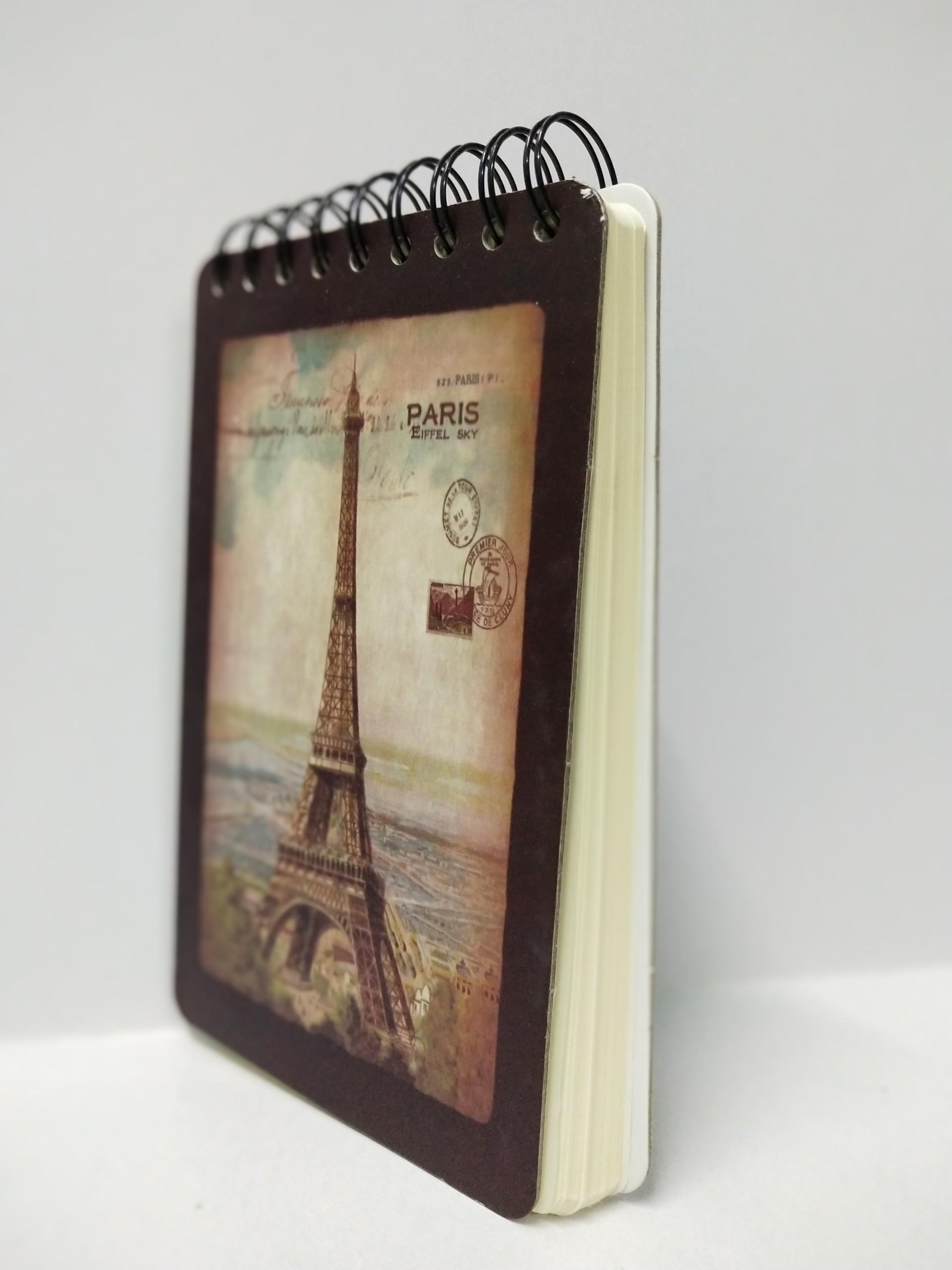 Sổ Lò Xo Bìa Cứng Tháp Eiffel Sky