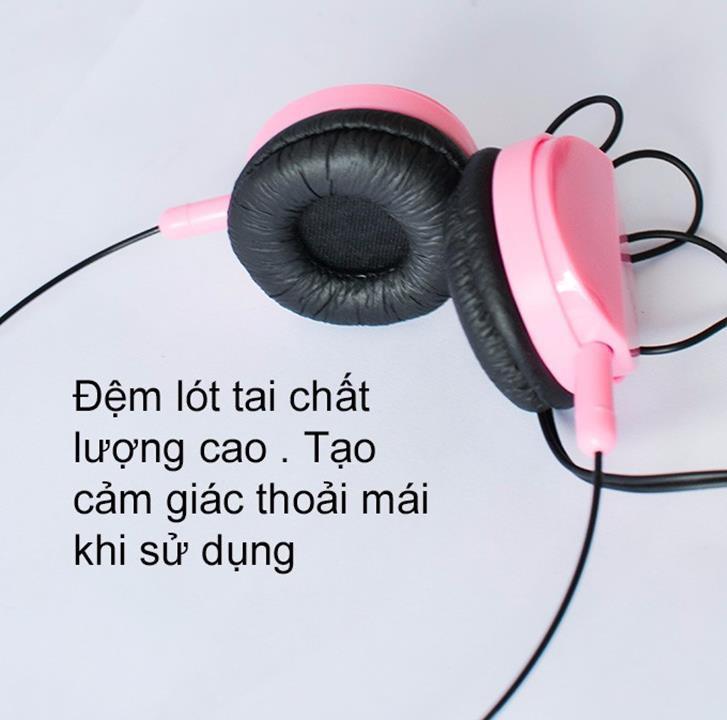 Tai nghe chụp tai thời trang siêu dễ thương đủ màu sắc (Giao màu ngẫu nhiên)