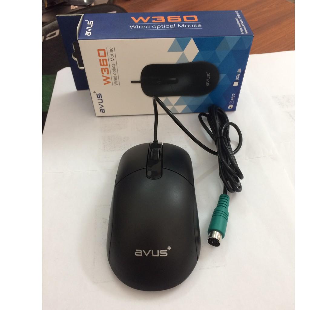 Chuột máy tính chuẩn PS2 Avus W360 - Hàng chính hãng