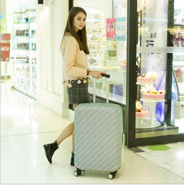 Túi Bọc Bảo Vệ Vali Size Co Giãn 4 Chiều Từ 26 - 30 Inches Sọc