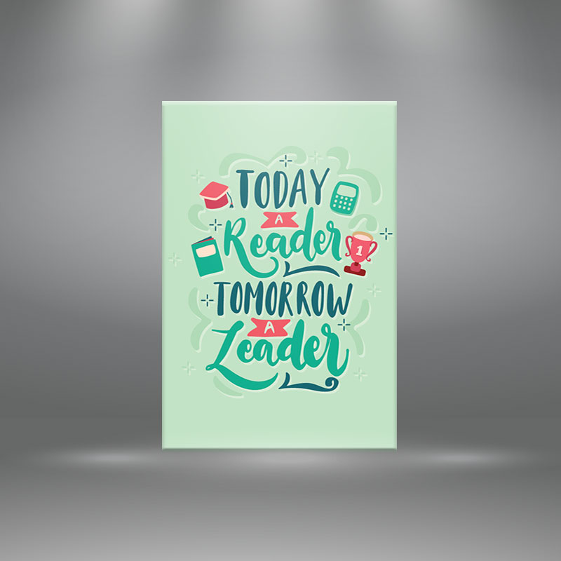 """Tranh canvas tạo động lực """"Everything begins with an idea be creative""""-W4906"""