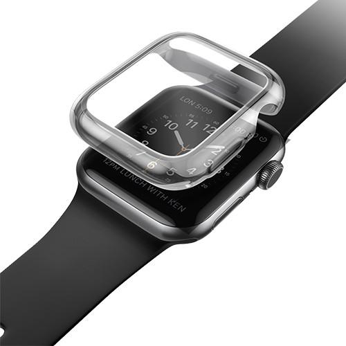 Ốp Case và Kính Cường Lực Trong Suốt UNIQ Garde Hybrid cho Apple Watch Size 40/ 44mm_ Hàng Chính Hãng
