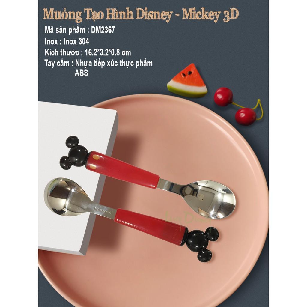Bộ muỗng đũa tập ăn 3D nhân vật hoạt hình Disney- Micky,Minnie ( 3 món)