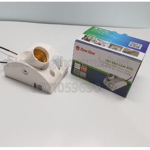 Đui đèn cảm biến chuyển động Rạng Đông PIR-E27