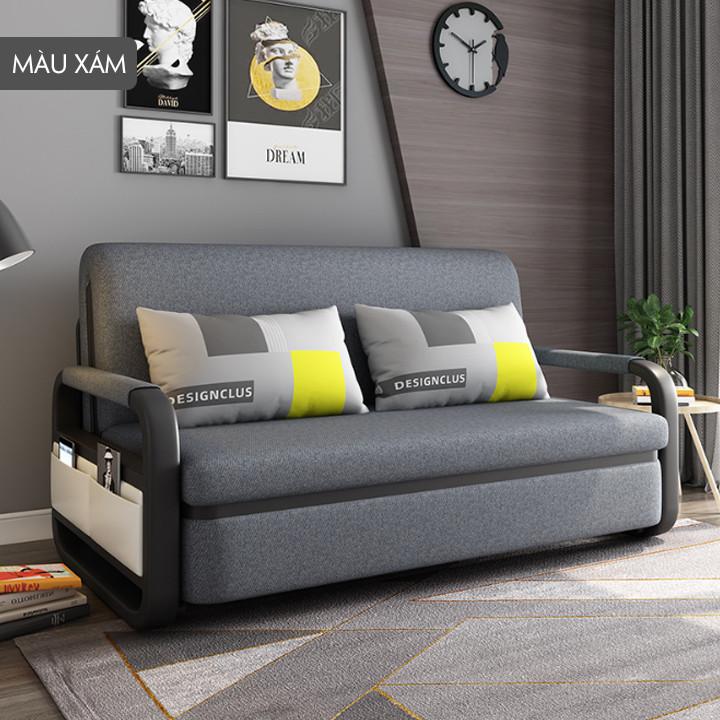 Giường ngủ thế hệ mới , gập lại thành Sofa ( tặng kèm gối ngủ ) 2 màu xám đậm - xám nhạt