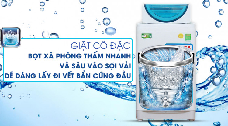 Giặt cô đặc - Máy giặt Toshiba 8.2 kg AW-F920LV WB