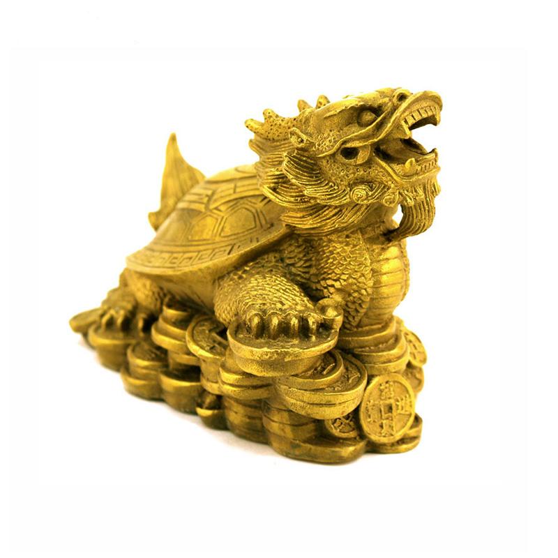 Tượng Long quy bát quái rùa đầu rồng bằng đồng thau phong thủy Tâm Thành Phát