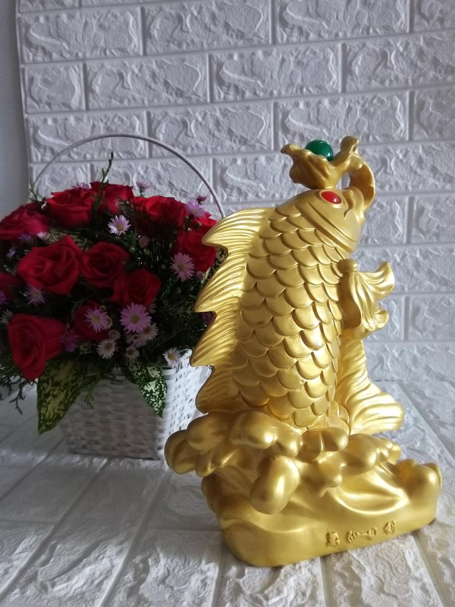 Cá chép vàng nhả Ngọc Châu phong thủy đại cát - CCVD34