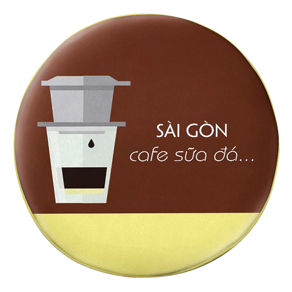 Gối Ôm Tròn Sài Gòn Cafe Sữa Đá GOFU310