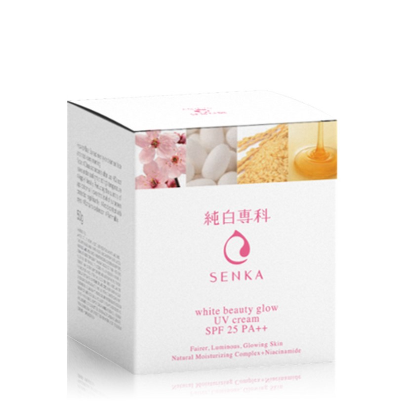 Kem Dưỡng Trắng Sáng & Giảm Thâm Nám Ban Ngày Senka White Beauty UV Cream 50g SPF 25 PA ++