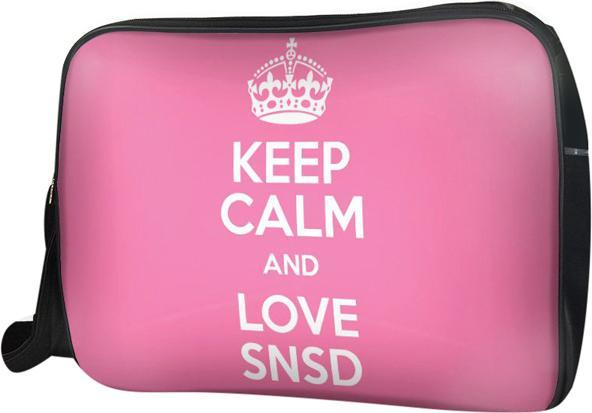 Túi Đeo Chéo Hộp Unisex Keep Calm And Love Snsd - TCKK074 34 x 9 x 25 cm