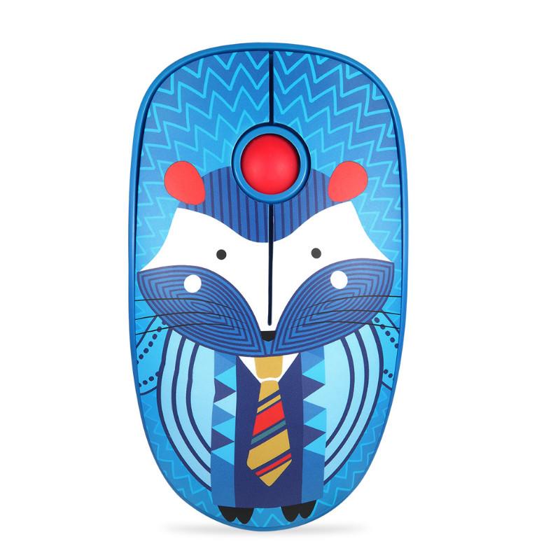Chuột Không Dây Forter V8 Slient Mouse (Không tiếng ồn) Màu Xanh Dương - Hàng Chính Hãng