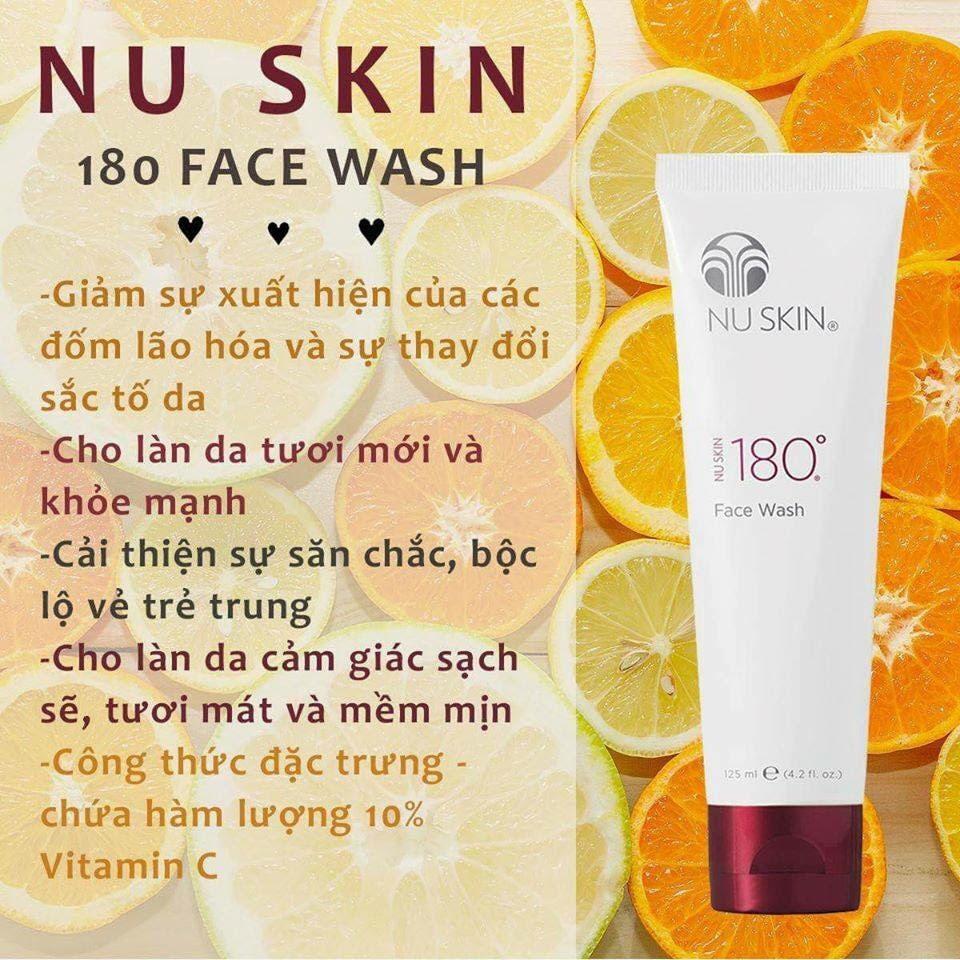 Sữa Rửa Mặt Nuskin 180 Face Wash 125ml Giảm Nếp Nhăn Ngăn Ngừa Lão Hóa