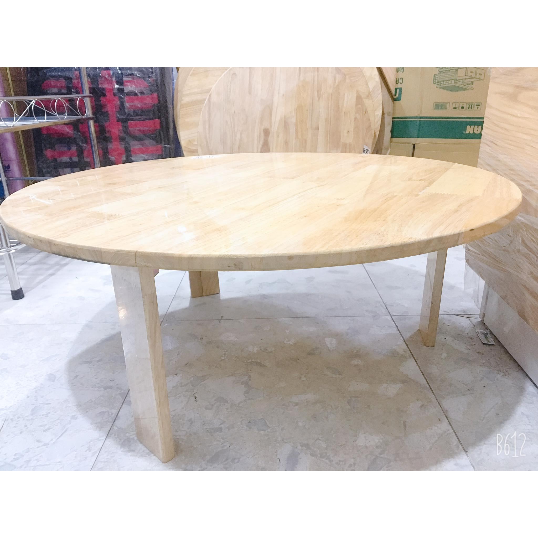 Bàn tròn ngồi bệt-100% gỗ cao su tự nhiên