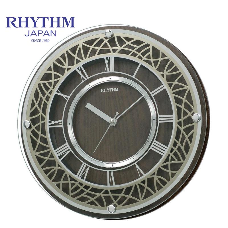 Đồng hồ treo tường Nhật Bản  Rhythm CMG103NR06 - Kt 29.8 x 4.8cm, 1.05kg. Vỏ gỗ