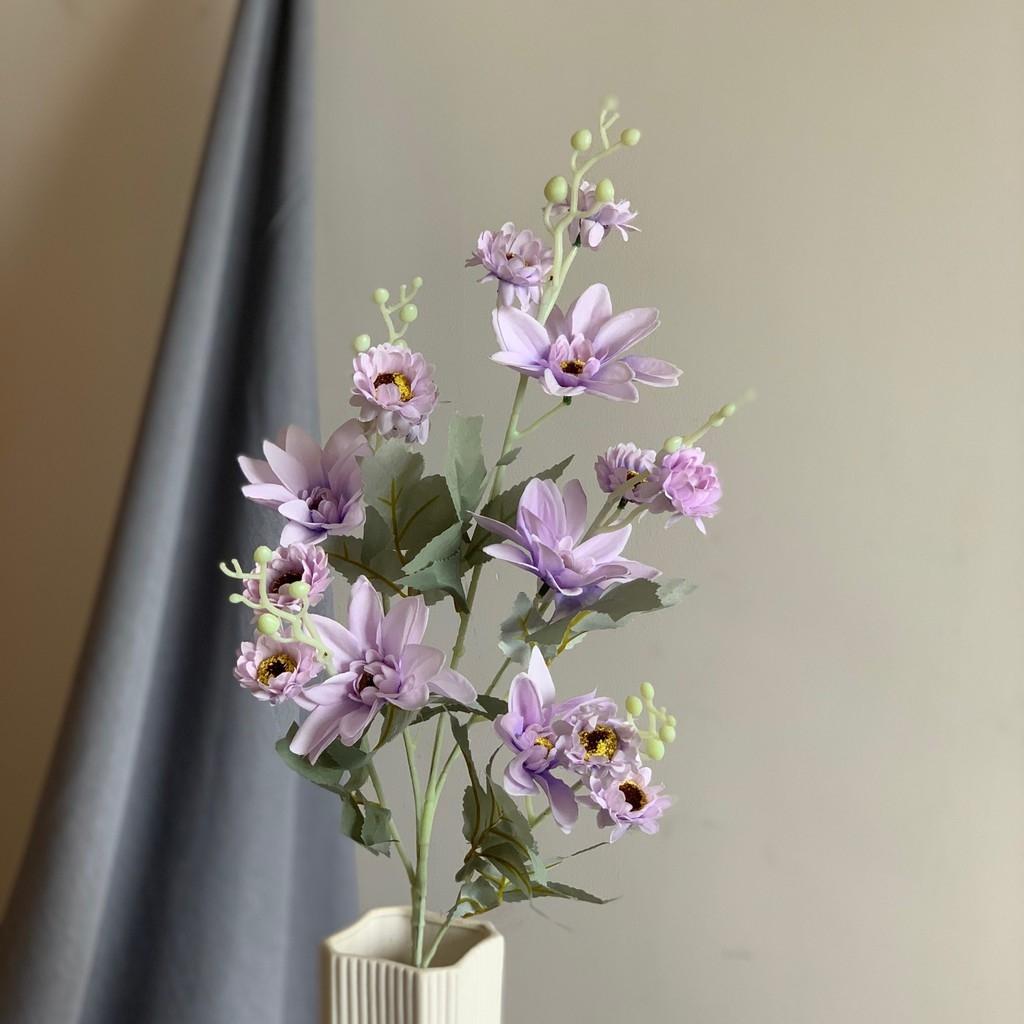 Hoa giả_Combo 5 bông Hoa Thược Dược Cao Cấp