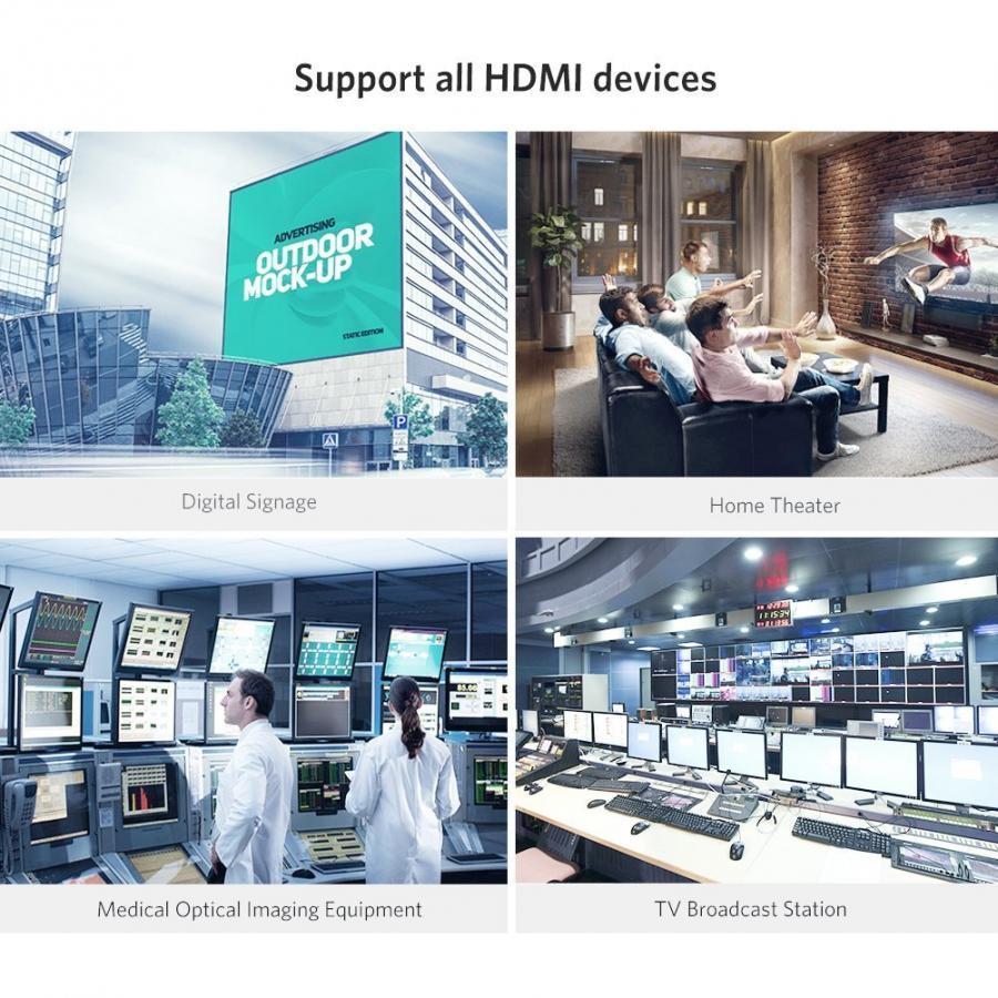 Cáp HDMI 2.0 Sợi Quang Dài 10M Hỗ Trợ 4K@60Hz HDR Cao Cấp Ugreen 50717 - Hàng chính hãng