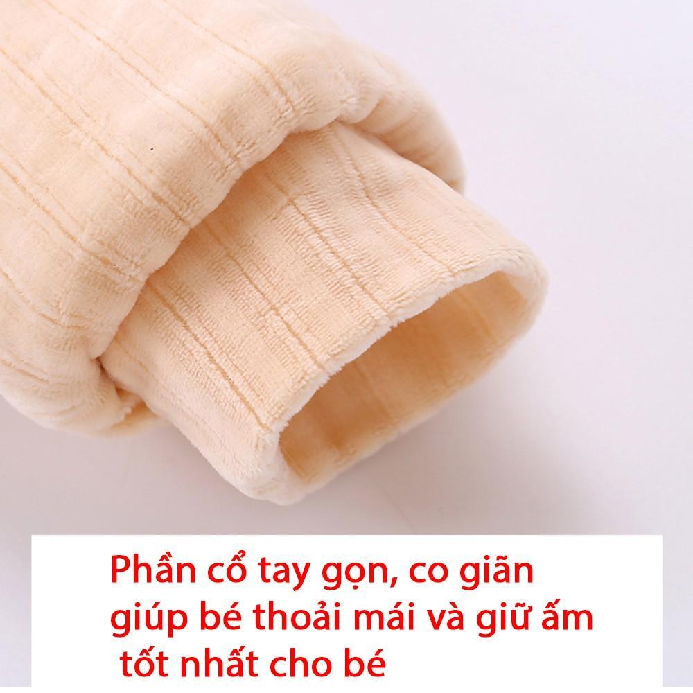 Body Nỉ Bông Cho Bé Trai, Bé Gái Hình Thỏ Đáng Yêu 3-12kg