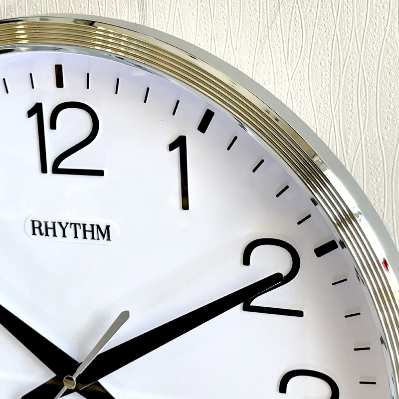 Đồng hồ treo tường Nhật Bản Rhythm CMG494BR19 - Kt 36.0 x 4.4cm, 855g Vỏ nhựa, dùng PIN.