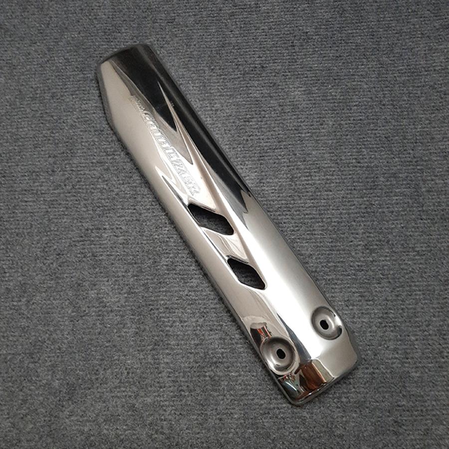 Ốp Pô Dành Cho Xe Exciter 2010 (Inox 100%) MS1655 - Tặng Thêm 1 Pin AAA Maxell