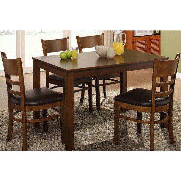 bộ bàn ăn cabin 4 ghế màu nâu