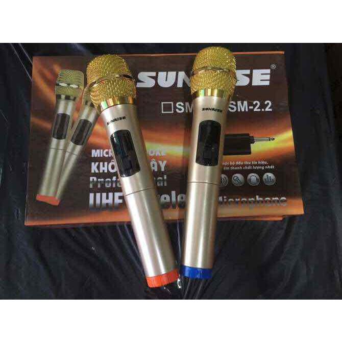 MICRO KHÔNG DÂY SUNRISE SM-2.2 LOẠI 2 MICRO - HÀNG NHẬP KHẨU
