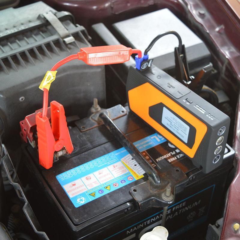 Kích bình ô tô kiêm sạc đa năng cho thiết bị di động (xanh lá)
