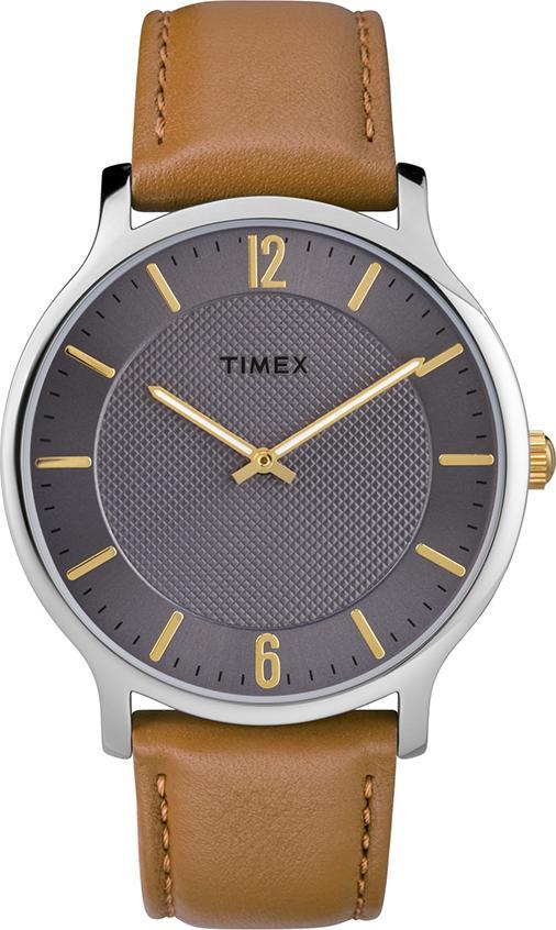 Đồng Hồ Nam Dây Da Timex Metropolitan TW2R49700 (40mm) - Nâu