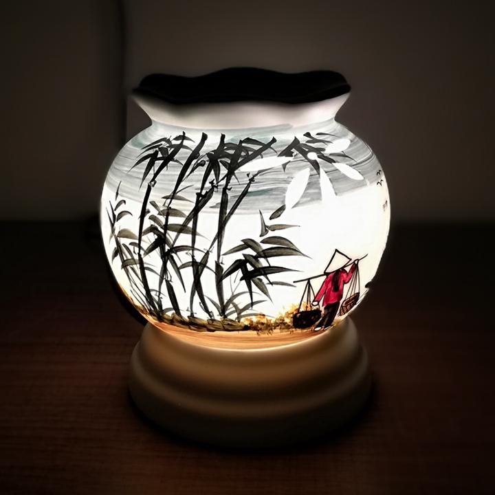 Đèn Xông Tinh Dầu Bát Tràng - Sứ Thấu Quang