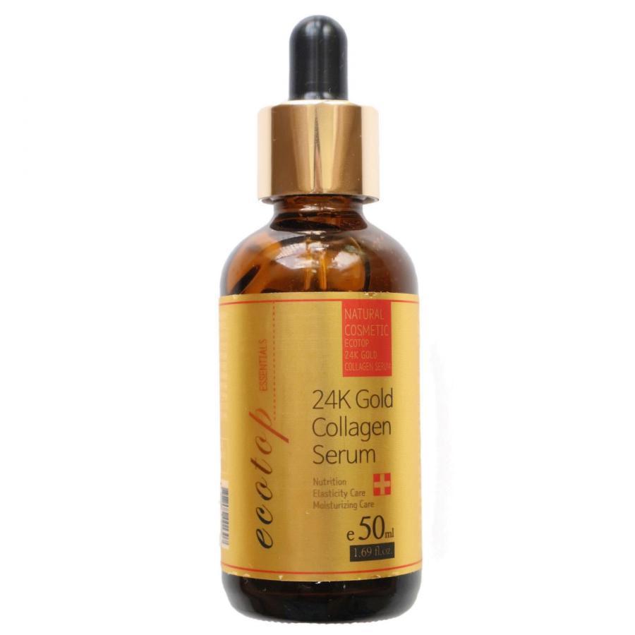 Serum đậm đặc dưỡng trắng da chống lão hoá ECOTOP 24K Gold Collagen Serum 50ml