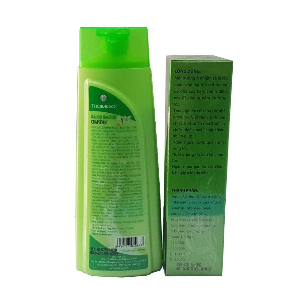 Combo dầu gội hoa bưởi ngăn rụng tóc Thorakao 400ml và Lotion tinh dầu bưởi Kích thích mọc tóc Thorakao 150ml