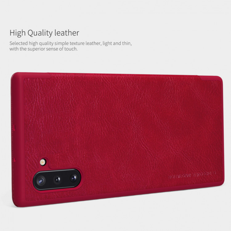 Nillkin Qin Series Leather case for Samsung Galaxy Note 10, Samsung Galaxy Note 10 5G