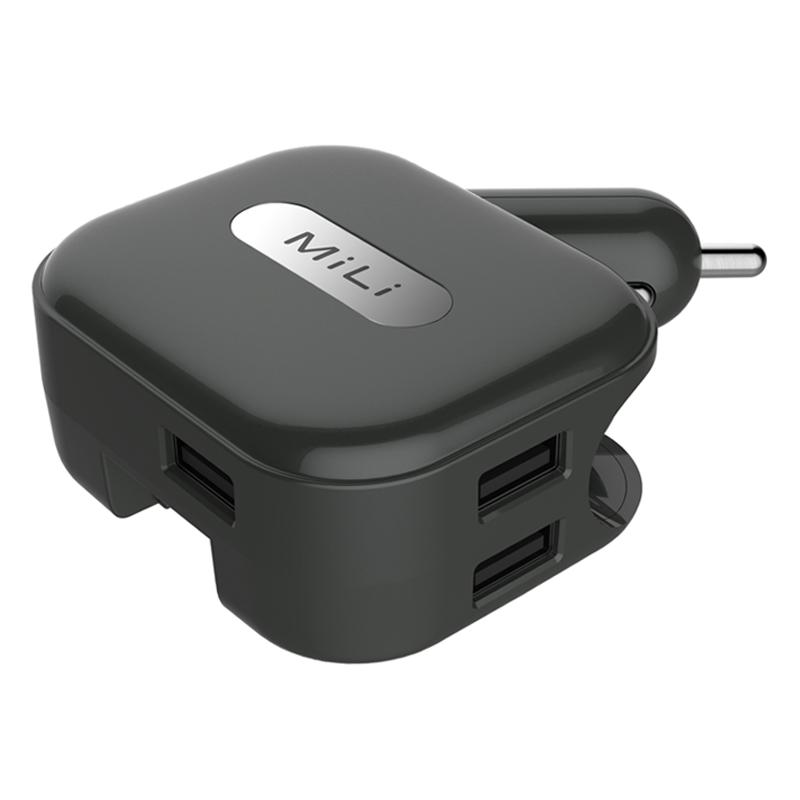 Adapter Sạc Xe Hơi 3 Cổng USB MiLi Universal Charger Plus (Có Đầu Cắm Sạc Thường) HC-U20-C - Hàng Chính Hãng