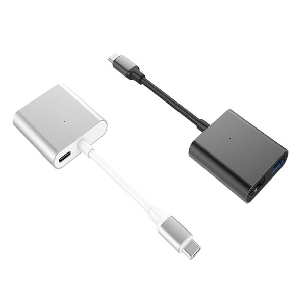 Cổng chuyển Hyperdrive 4K HDMI 3-in-1 USB-C Hub dành cho Macbook, PC và Devices - Hàng Chính hãng