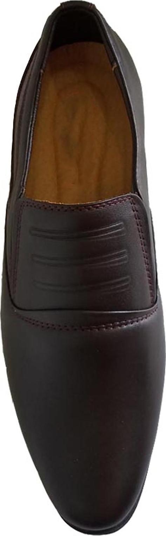 Giày Tây Nam Kiểu Trơn ( Kiểu Lười) Thời Trang Công Sở Da Bò Thật Cao Cấp Nâu Đất Đậm Đế Cao Su Lót Da Đế May Phổ Biến Nhất 2020 Chỉ Dành Cho Nam  FVASIAGT52