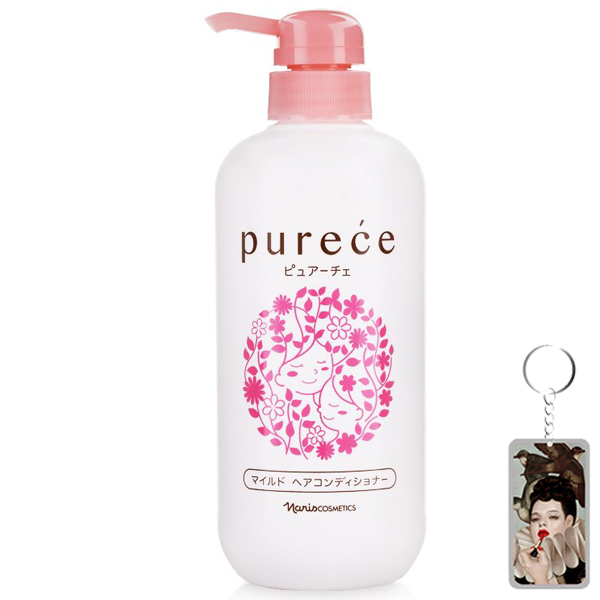 Dầu xả Naris Purece Mild Hair Conditioner Nhật Bản 550ml + Móc khóa